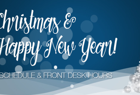 Year End Studio and Front Desk Festive Season Hours